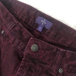 NYDJ Jeans - NYDJ Burgundy python jeans.